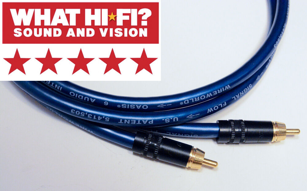 Wireworld Oasis 6 RCA Cables 2 ft pair -Award-winning ...