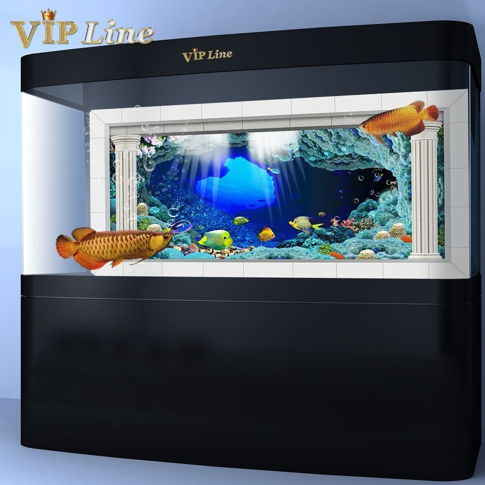 3d underwater world aquarium background poster hd fish for Fish tanks for sale ebay