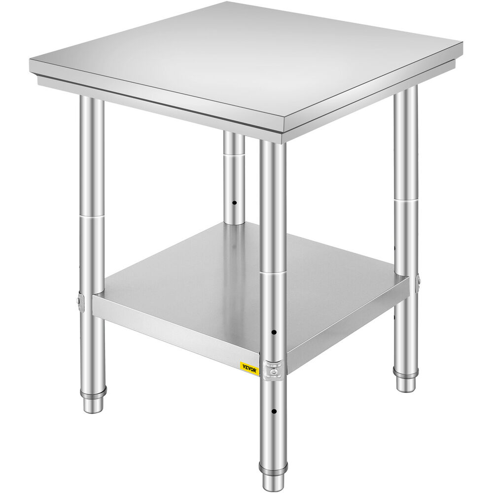 24 X 24 Stainless Steel Work Prep Table Commercial