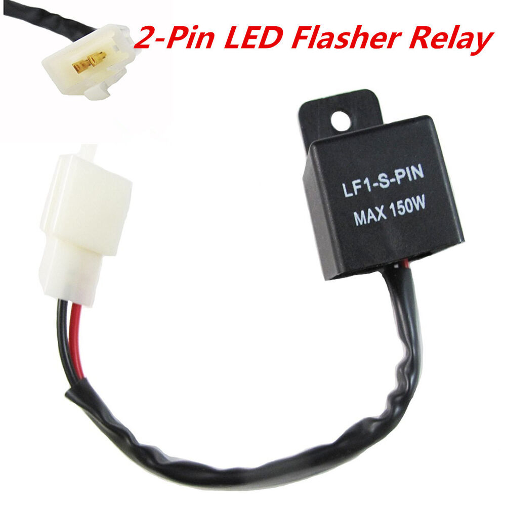 2 Pin Motorcycles Led Light Flasher Relay Turn Signal Rate Control Electronic Hyper Flash 4683812323107 Ebay