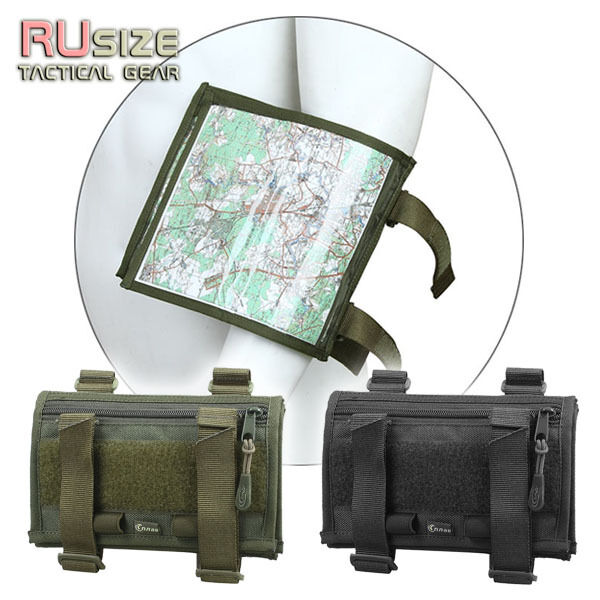 Tactical map case for the arm military pouch document for Document pouch for shipping