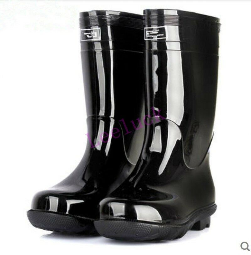 mens breathable boots waterproof mid calf rubber