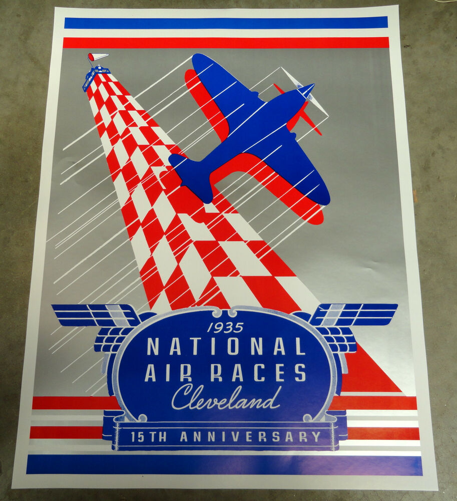 1935 national air races poster cleveland ohio ebay
