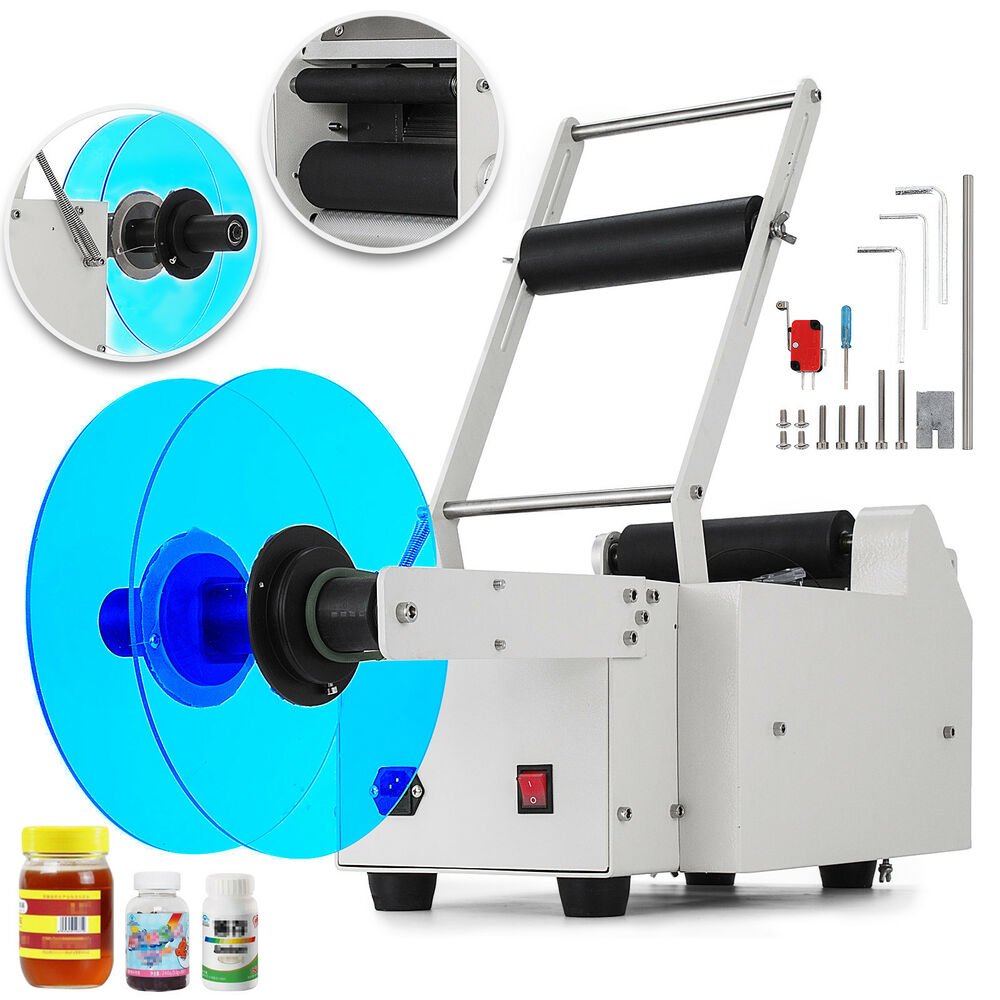 MT-50 Semi-Automatic Round Bottle Labeling Machine Coding