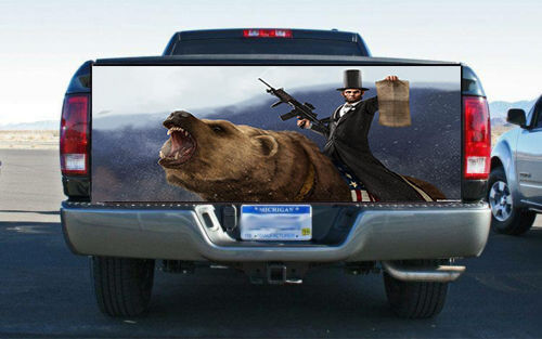 Lincoln Grizzly Freedom Truck Tailgate Wrap Vinyl Graphic