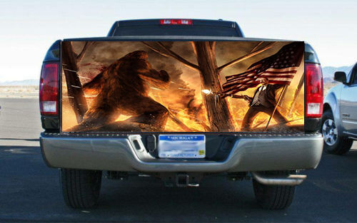 Teddy Roosevelt Vs Big Foot Truck Tailgate Wrap Vinyl
