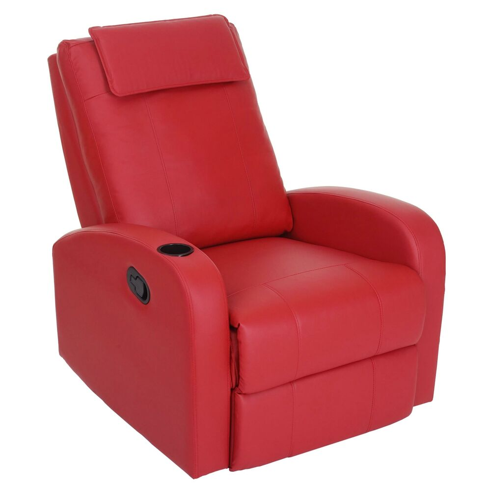 fernsehsessel br ssel tv sessel relaxsessel liegesessel kunstleder rot ebay. Black Bedroom Furniture Sets. Home Design Ideas