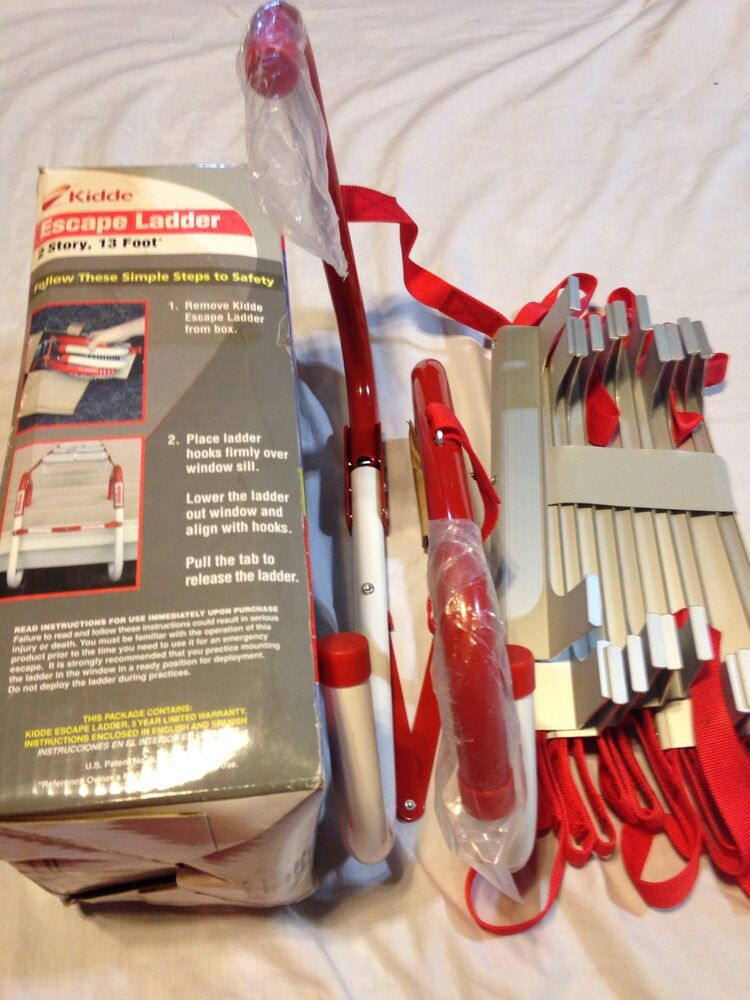 Kidde Emergency Escape Ladder 13 Ft 2 Story Safety Home