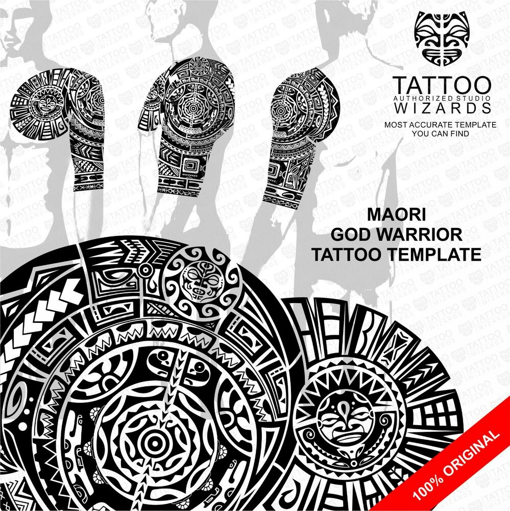 Maori Samoan Polynesian GOD WARRIOR Tattoo Stencil