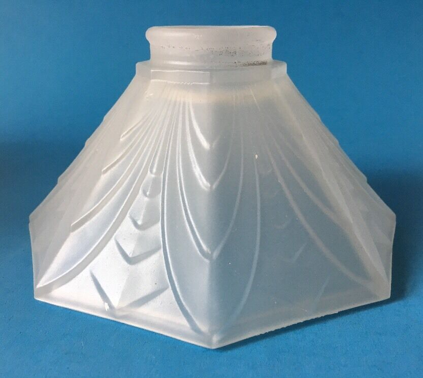 Vintage Art Deco Glass Shade For Floor Lamp Or Ceiling Fan