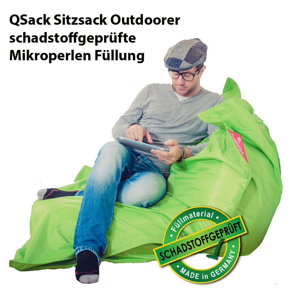 sitzsack outdoor qsack sitzsack inlett sitzsack xxl. Black Bedroom Furniture Sets. Home Design Ideas