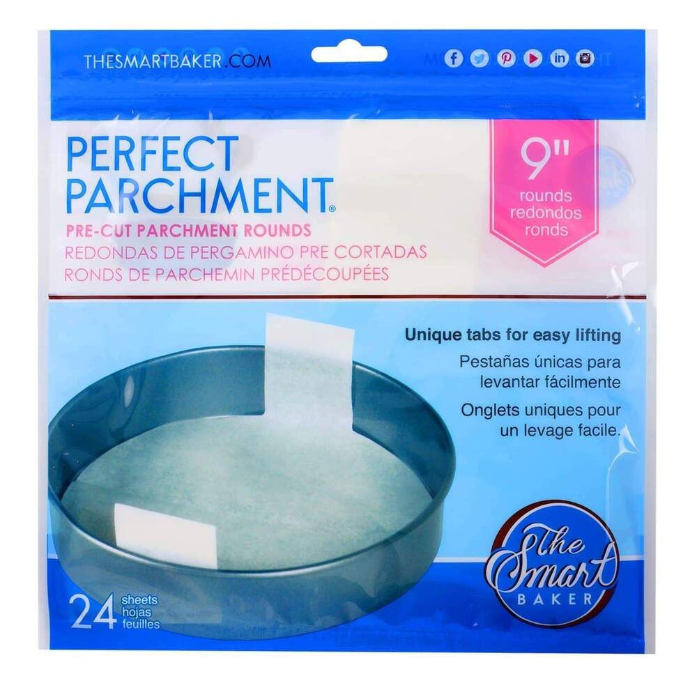 9in Cake Pan Pre Cut Parchment Round 24 Pack Ebay