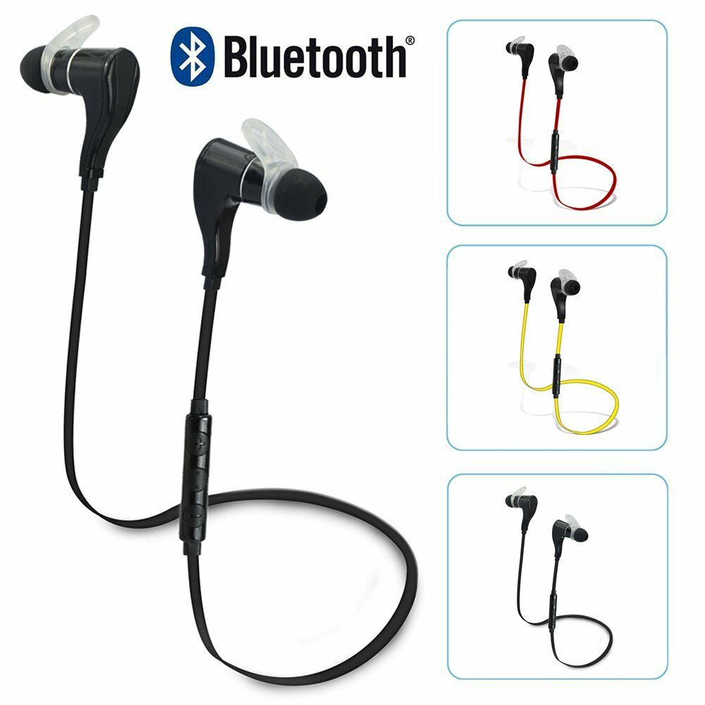wireless stereo sport bluetooth headphone headset earphone for iphone 6s 6s plus ebay. Black Bedroom Furniture Sets. Home Design Ideas