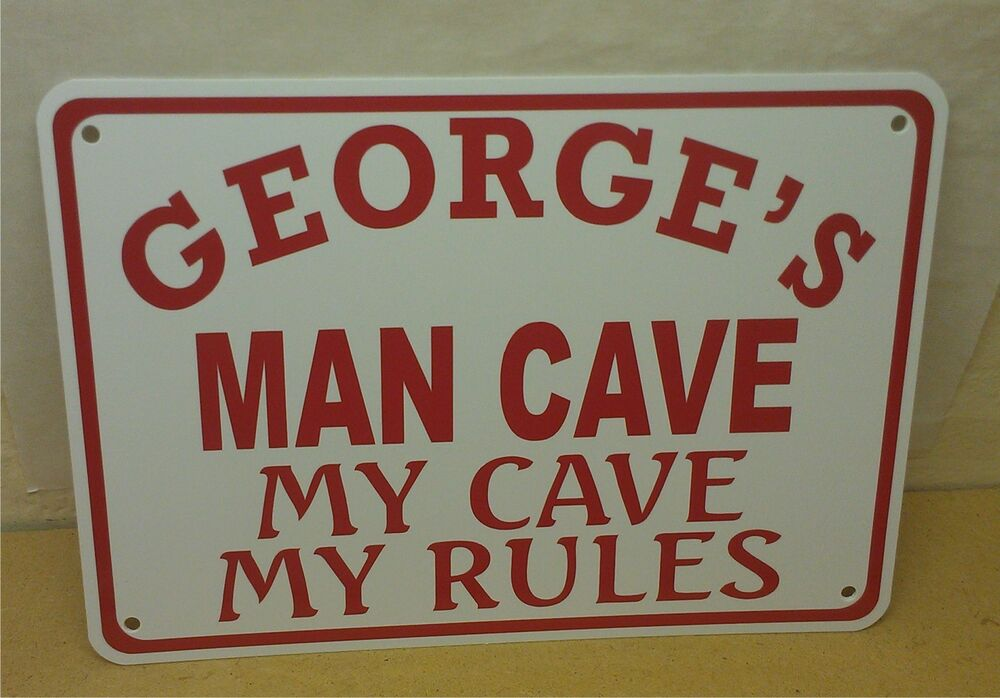 Cheap Personalized Man Cave Signs : Personalize man cave quot x polystyrene novelty sign