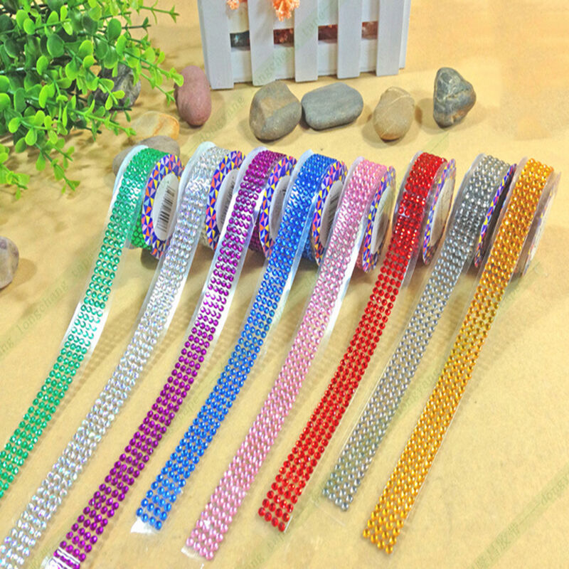 Shape colors self adhesive rhinestones pearls stick on for Rhinestone jewels for crafts