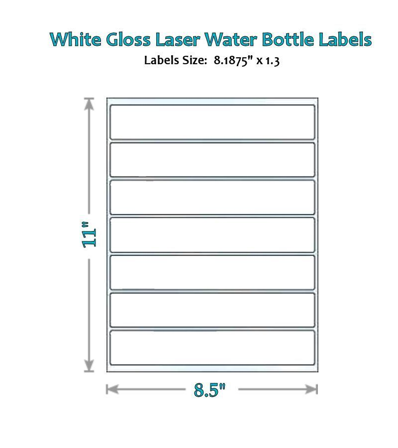 49 blank water bottle label glossy wrappers party new for Bottled water label template