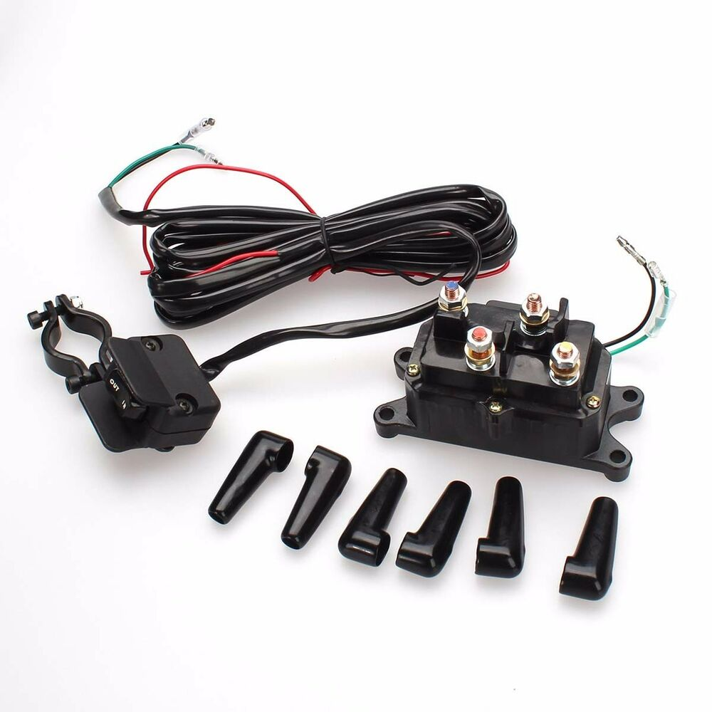 new 12v solenoid relay combo contactor winch thumb rocker switch for atv utv ebay. Black Bedroom Furniture Sets. Home Design Ideas