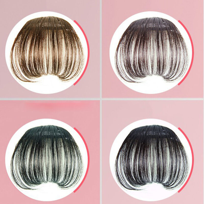 New Lady Party Natural Clip On Bang Front Fringe Only Hair