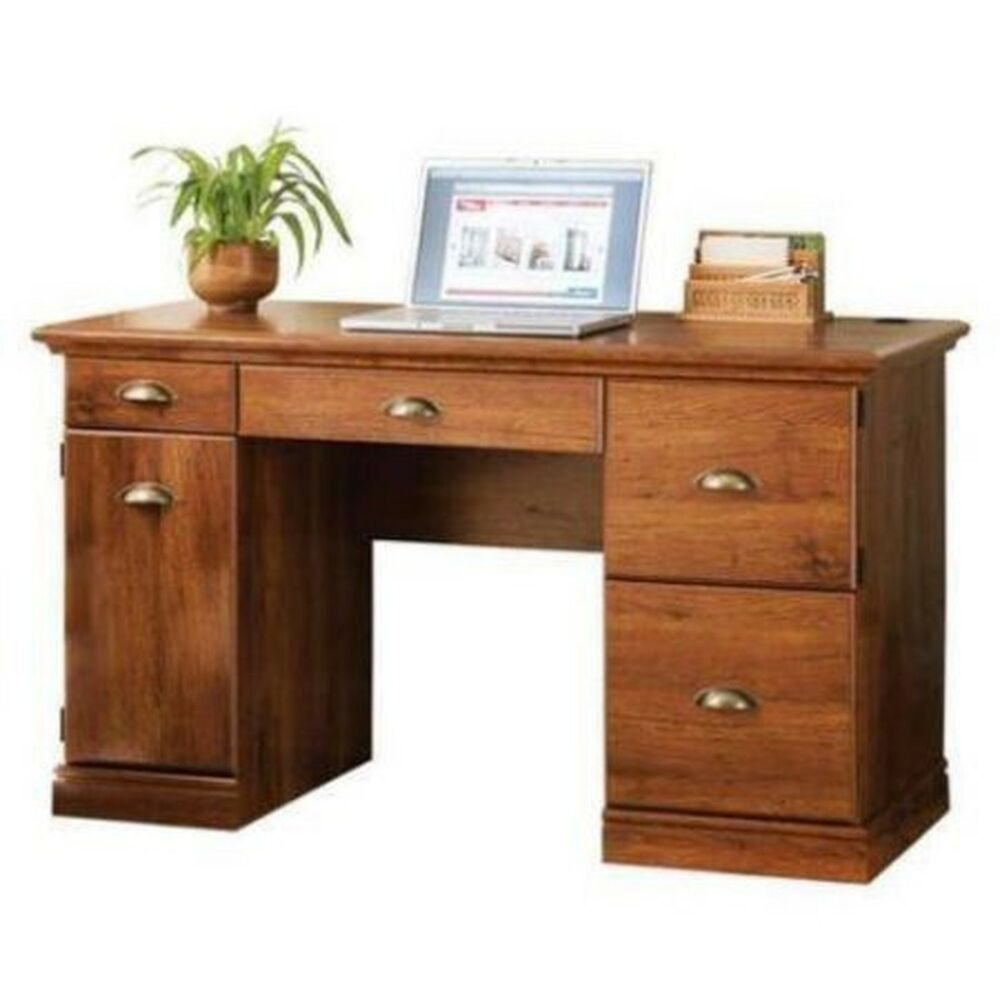 Computer desk workstation table modern executive wood furniture office home new ebay New home furniture bekasi