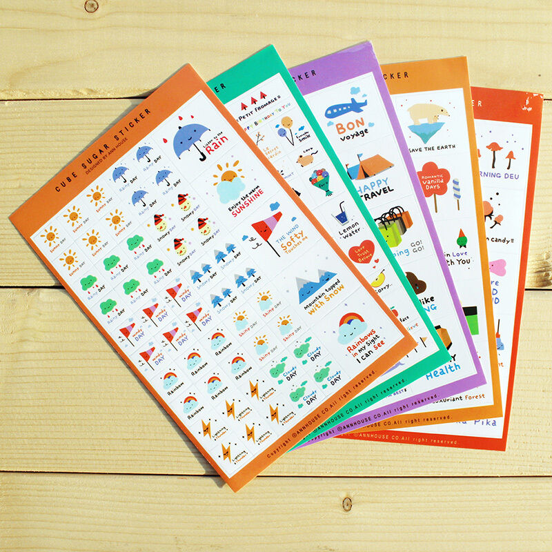 Diy Calendar Diary : Sheets cute paper stickers for diy po album scrapbook