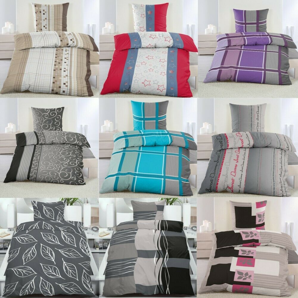2 tlg microfaser kuschel fleece flausch winter bettw sche 135x200 od 155x220 ebay. Black Bedroom Furniture Sets. Home Design Ideas