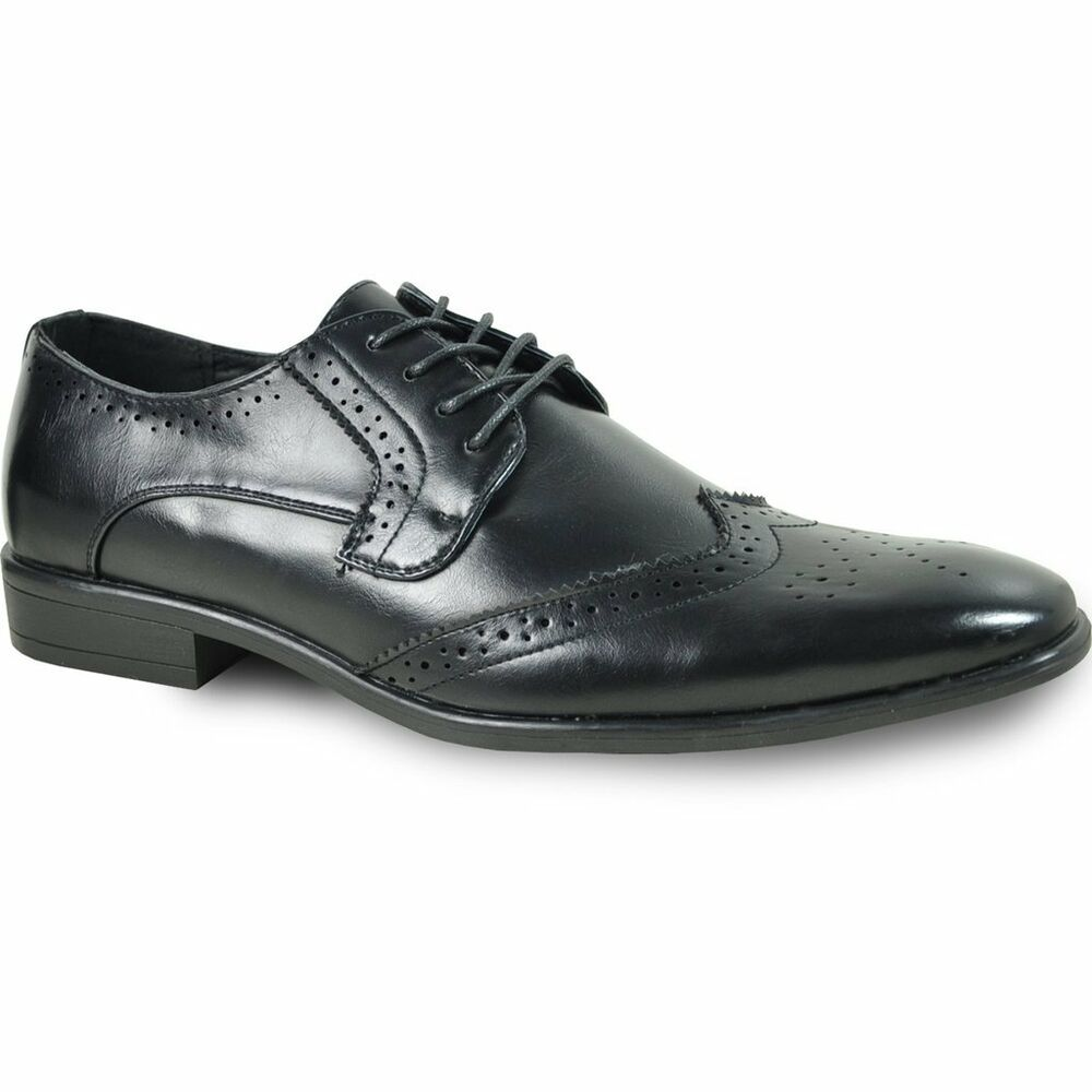 NEW Mens Black Lace Up Traditional Wing Tip Groom Oxford ...