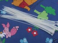 PJs ❤️ 30 SLIM ZIP CABLE TIES ❤️ FOR SIX  LARGE REBORN TODDLER DOLL BODY