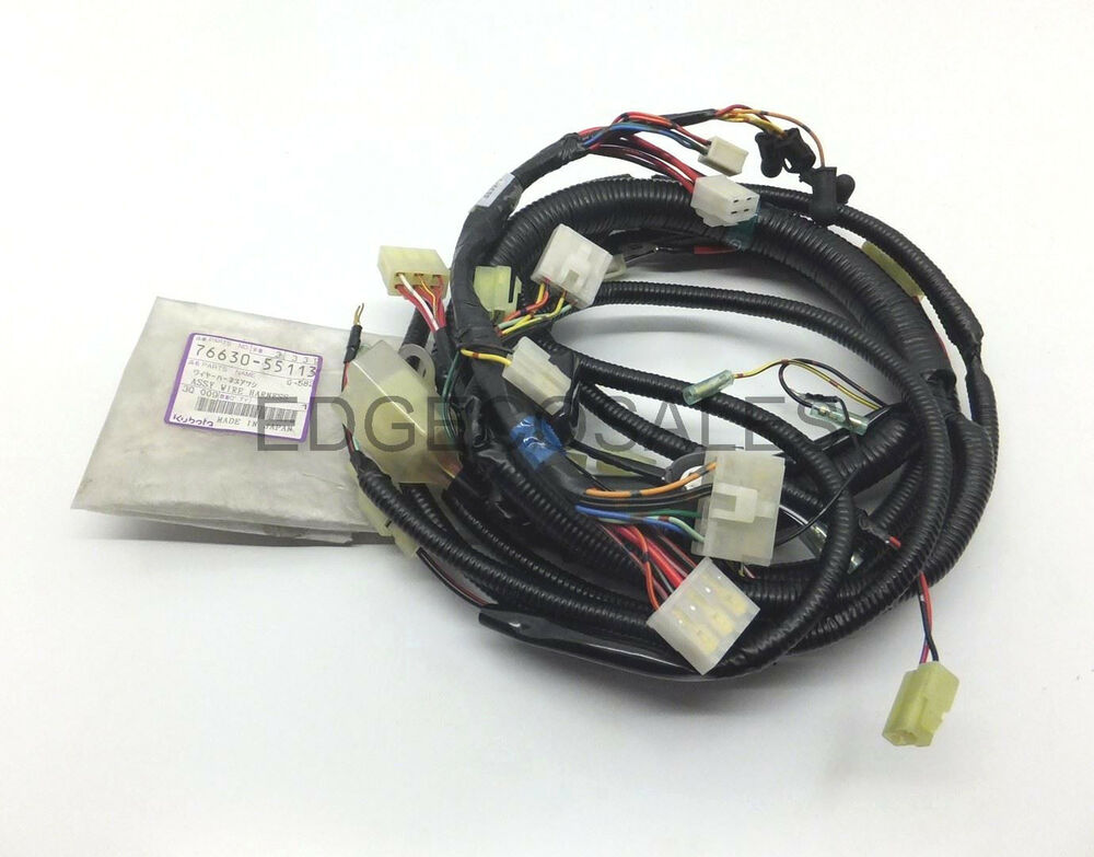 Kubota \f Series\ Out Front Wiring Harness Loom 7663055113 Ebayrhebaycouk: Kubota Wiring Harness At Gmaili.net