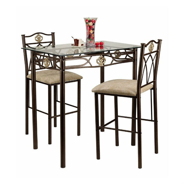 Small kitchen table and chairs counter height bistro set - Bistro sets for small spaces collection ...