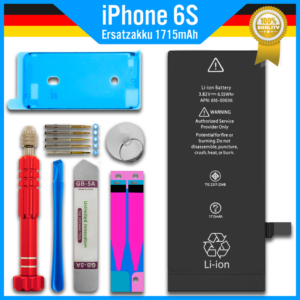 ersatz akku 1715mah f r original iphone 6s batterie battery accu werkzeug ebay. Black Bedroom Furniture Sets. Home Design Ideas