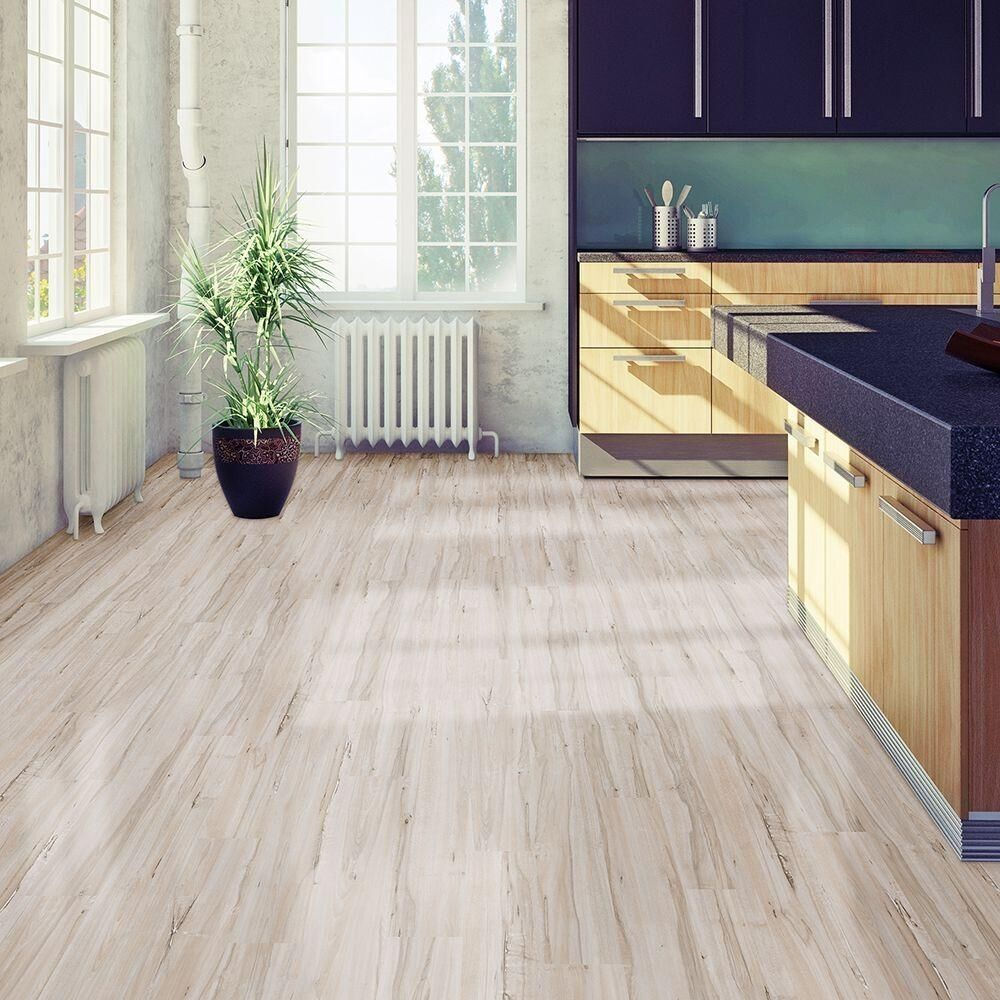 Plastic Floor: 6 In. X 36 In. White Maple Resilient Vinyl Plank Flooring