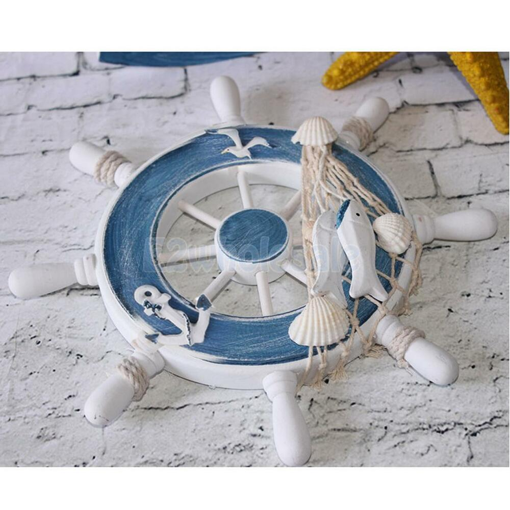 Nautical Wheel Decor: Nautical Wooden Boat Ship Steering Wheel Net Party Beach