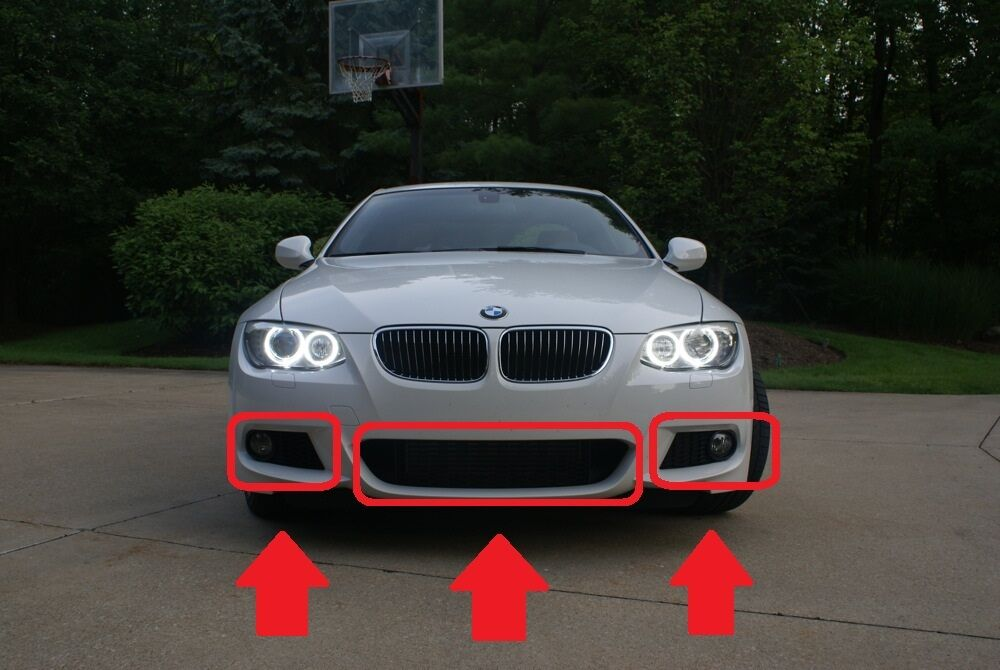 bmw new genuine 3 serie e92 e93 lci m sport front bumper lower grilles mesh set ebay. Black Bedroom Furniture Sets. Home Design Ideas