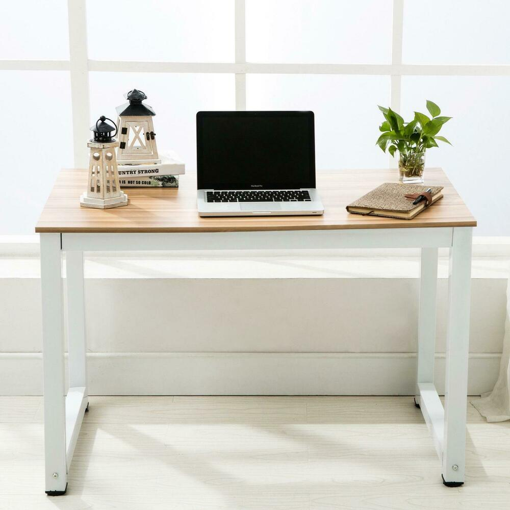 New Wood Computer Desk Pc Laptop Table Workstation Study Home Office Furniture Ebay