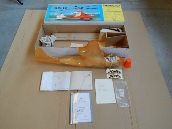 RARE WIK HELIX VINTAGE ELICOTTERO KIT MONTAGGIO  RC HELI COPTER HELICOPTER