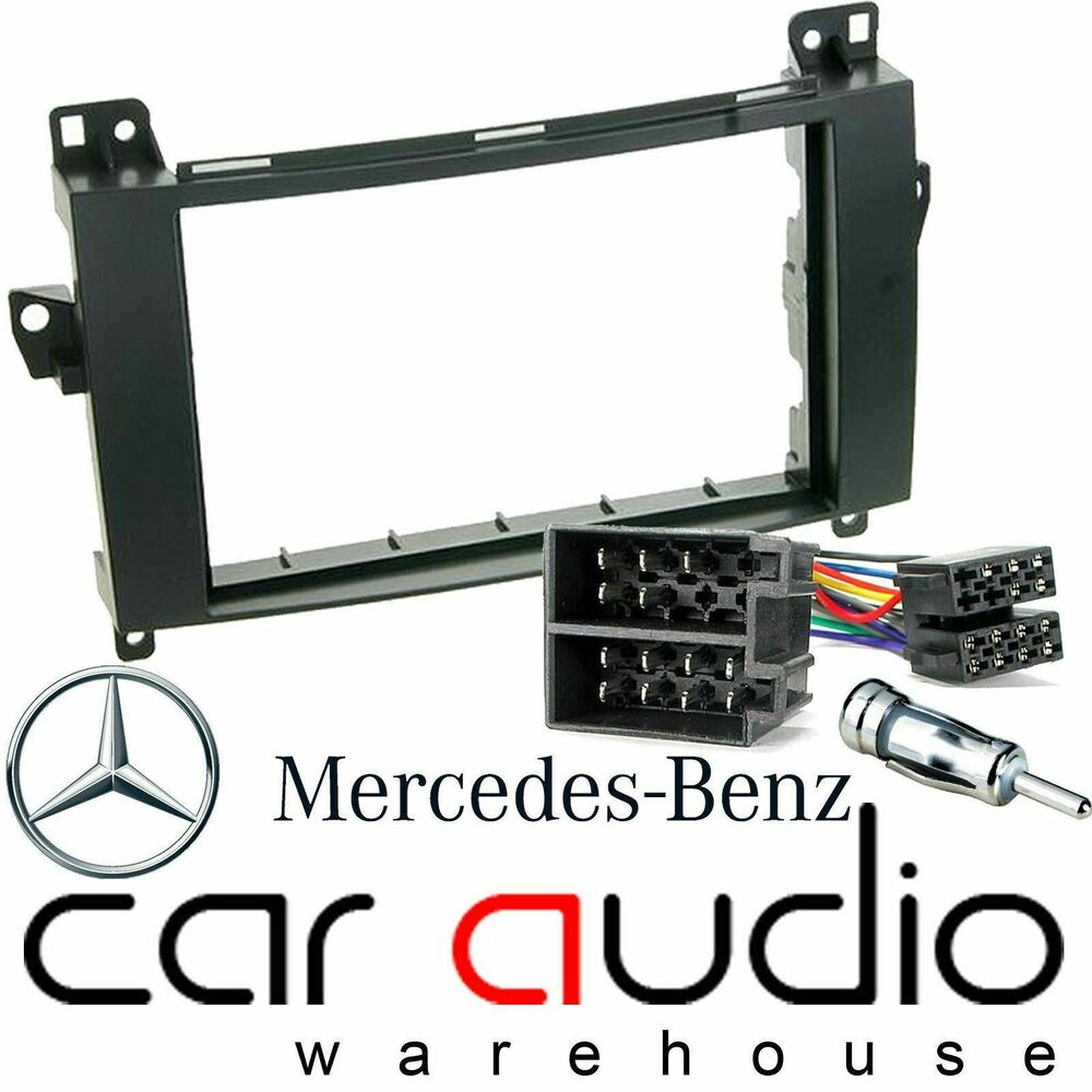 Mercedes benz a class w169 car stereo double din fascia for Mercedes benz car stereo