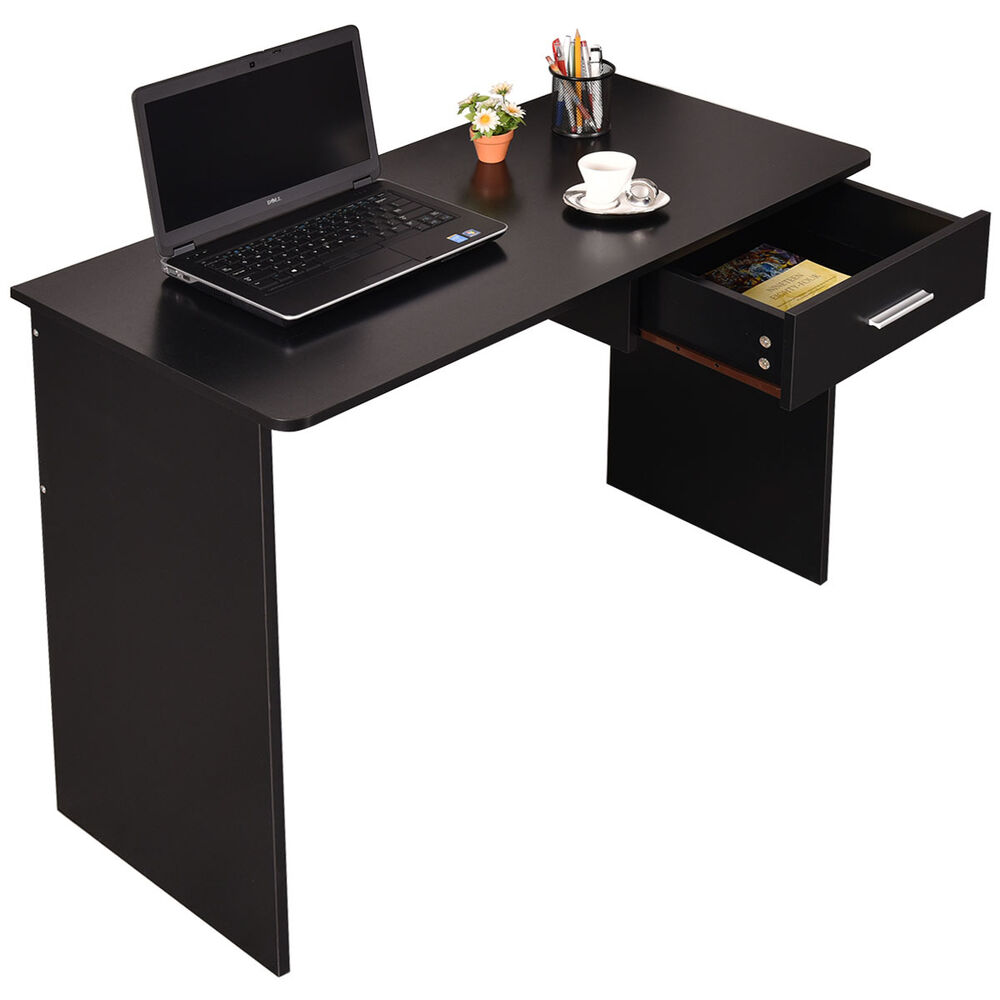 Wood computer desk laptop pc table workstation study home for Home office workstation desk