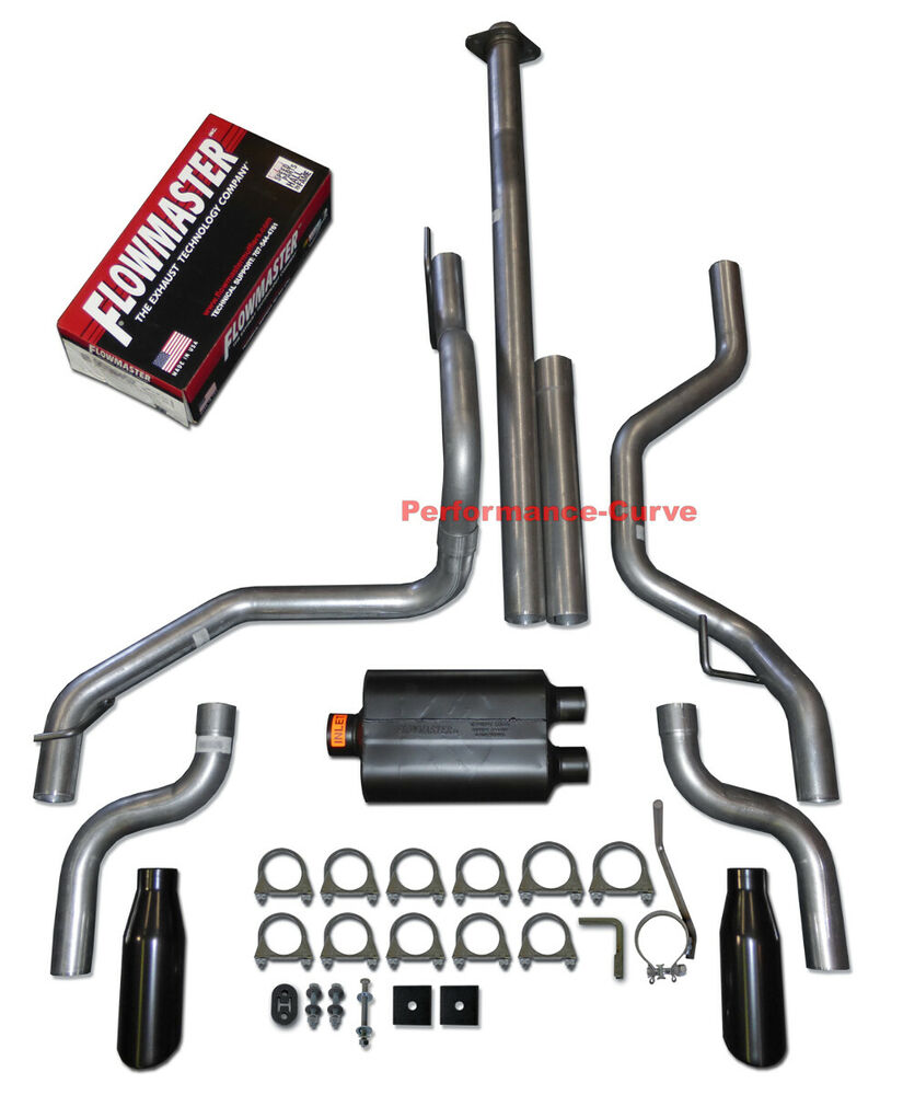 Flowmaster Exhaust F150 >> 15-17 Ford F150 F150 Dual Exhaust Kit w/ Flowmaster Original 40 | eBay