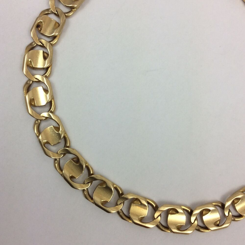 14k yellow gold mens link chain bracelet long ebay. Black Bedroom Furniture Sets. Home Design Ideas