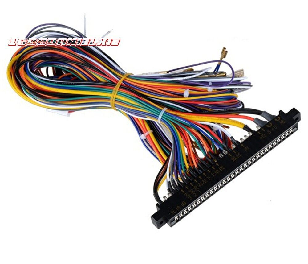 wire harness board hook tools arcade jamma board wiring harness 60 in 1 pcb harness loom ...