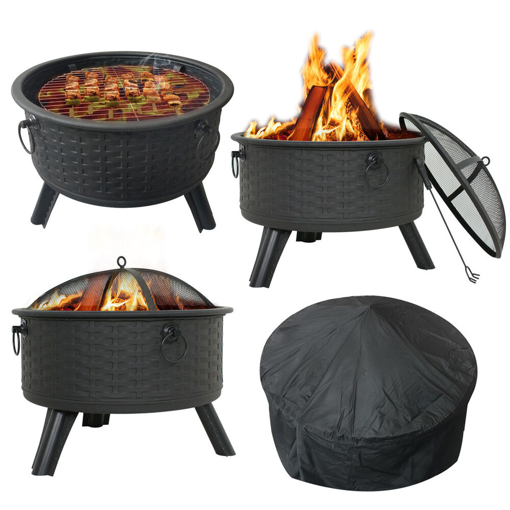 patio fire pit wood burning outdoor fireplace back yard