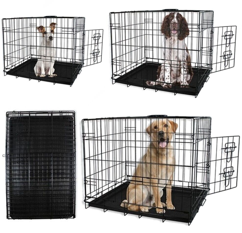 Dog cages puppy small medium large crates pet carrier for Dog crates for medium sized dogs