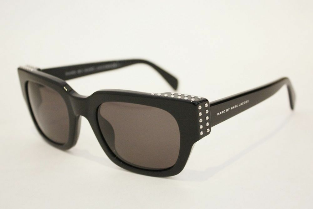 4542384acf3a7 Details about MARC BY MARC JACOBS MMJ 485 STUDS sunglasses 807NR BLACK WOMEN