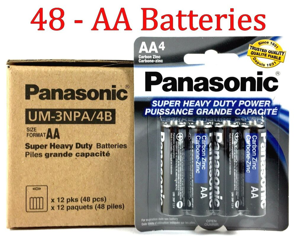 48 Wholesale Panasonic Aa Double A Batteries Heavy Duty