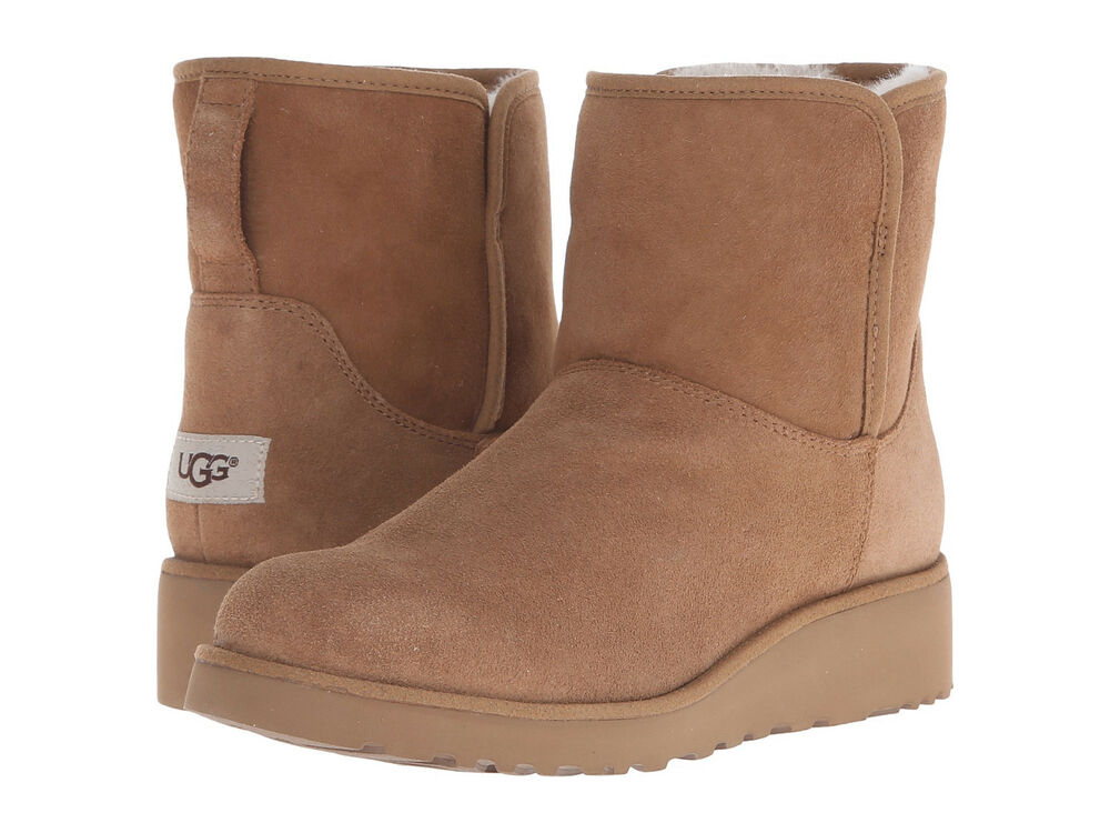 women ugg australia classic slim kristin boot 1012497 chestnut twinface original ebay. Black Bedroom Furniture Sets. Home Design Ideas
