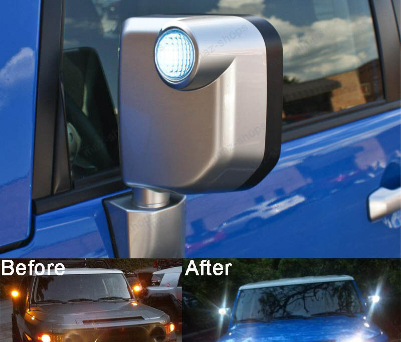 2pcs Xenon White Side Mirror Lights Led Bulbs For Toyota Fj Cruiser Subaru Wrx Ebay