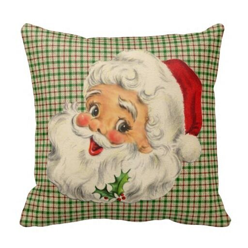 Christmas Decorative Pillow Cases : Vintage Santa Christmas Pillow Case Decorative Throw Pillowcase Cushion Cover eBay