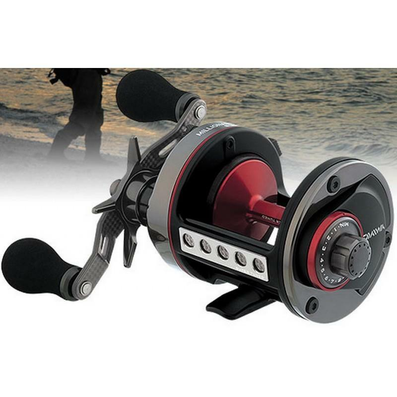 Daiwa millionaire 7ht mag super tuned m7htmagst surf for Surf fishing reel