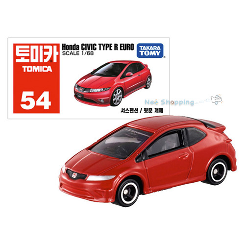 takara tomy tomica 54 honda civic type r euro diecast car toy 1 68 scale model ebay. Black Bedroom Furniture Sets. Home Design Ideas
