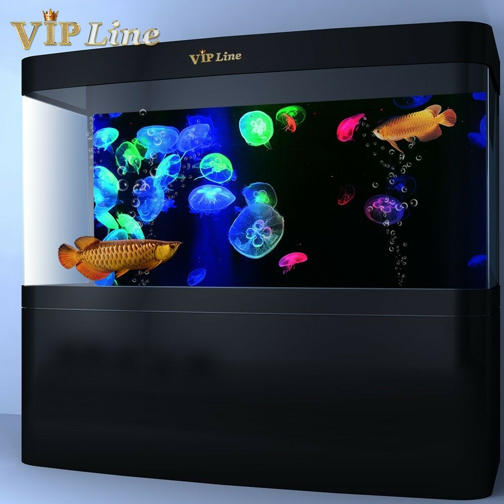 3d jellyfish aquarium background poster pvc fish tank for Aquarium background decoration